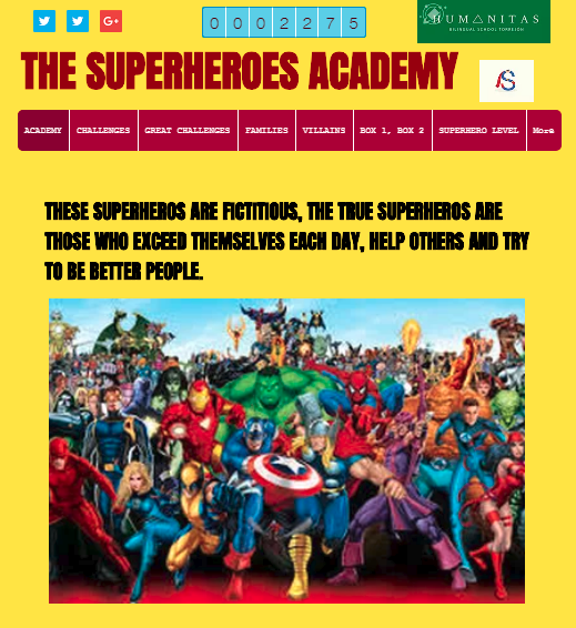 The superheroes academy